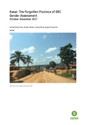 Kasai: The forgotten province of DRC - gender assessment